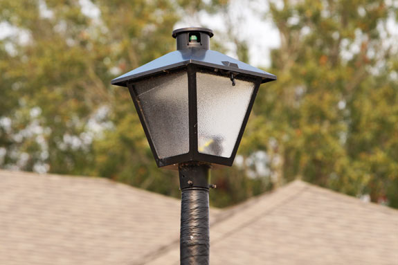 outdoor light poll